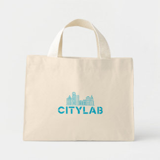 CityLab tote with blue skyline design