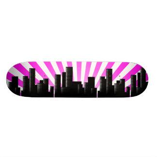 cityscape 19.7 cm skateboard deck