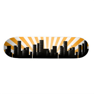 cityscape 21.3 cm mini skateboard deck