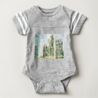 Cityscape and forest baby bodysuit