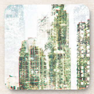 Cityscape and forest coaster