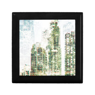 Cityscape and forest gift box