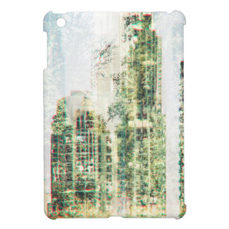 Cityscape and forest iPad mini cover