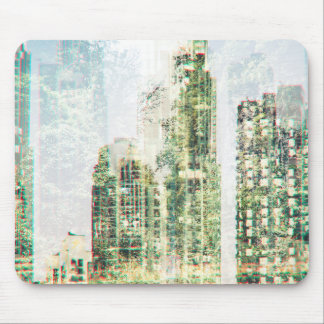 Cityscape and forest mouse pad