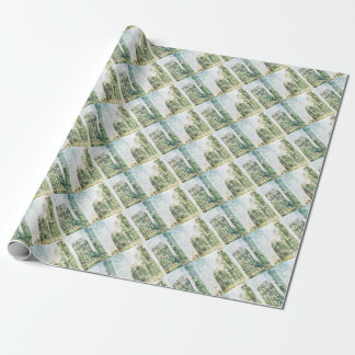 Cityscape and forest wrapping paper