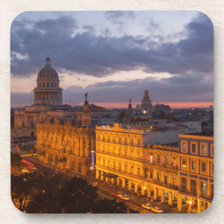 Cityscape at sunset, Havana, Cuba Beverage Coaster
