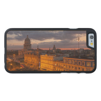 Cityscape at sunset, Havana, Cuba Carved Maple iPhone 6 Case