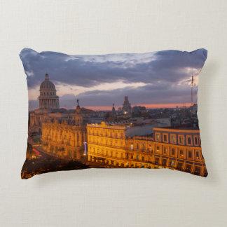 Cityscape at sunset, Havana, Cuba Decorative Cushion