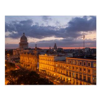 Cityscape at sunset, Havana, Cuba Postcard