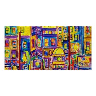 Cityscape Bronx by Piliero Customized Photo Card