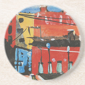 cityscape by Lyn Graybeal Beverage Coaster