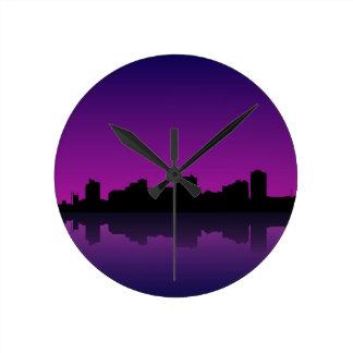 cityscape clocks