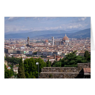 Cityscape Florence Italy Card