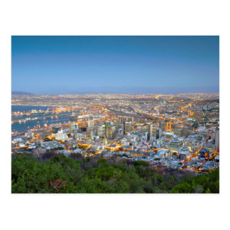 Cityscape From Summit Of Signal Hill At Dusk Postcard