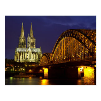 Cityscape of Cologne Postcard
