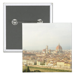 Cityscape of Florence, Italy 15 Cm Square Badge