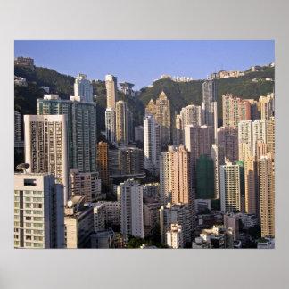 Cityscape of Hong Kong, China Poster