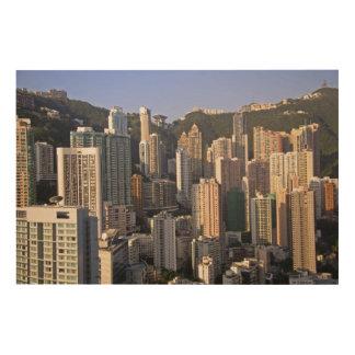 Cityscape of Hong Kong, China Wood Prints