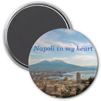 cityscape of Naples Magnet