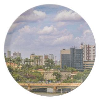 Cityscape of Recife, Pernambuco Brazil Dinner Plate