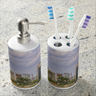 Cityscape of Recife, Pernambuco Brazil Soap Dispenser And Toothbrush Holder