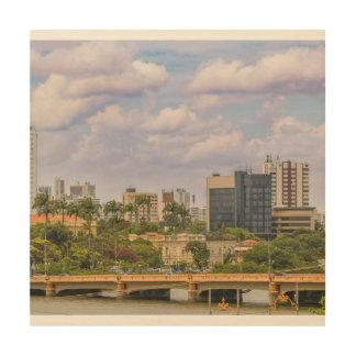 Cityscape of Recife, Pernambuco Brazil Wood Wall Decor