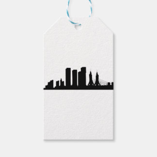Cityscape Silhouette Gift Tags