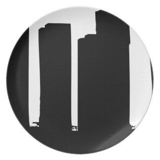 Cityscape Silhouette Plate