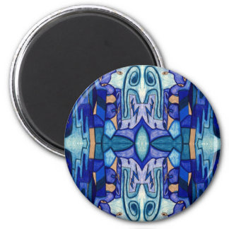 Cityscape v2 6 cm round magnet