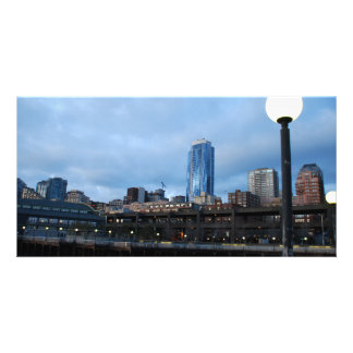 CityscapeEvening041609a Photo Greeting Card