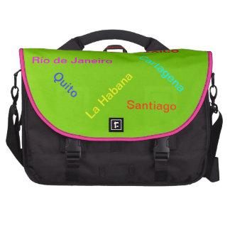 Ciudades de América Latina - Verde Computer Bag