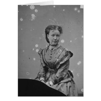 Cival War Era Tin Type Photo of Unknown Lady Card