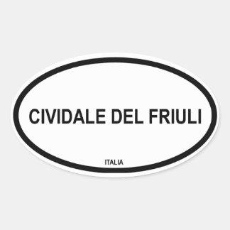 CIVIDALE DEL FRIULI OVAL STICKER