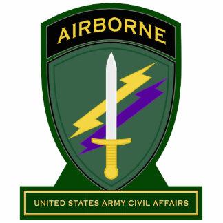 Civil Affairs Command - Airborne SSI Standing Photo Sculpture