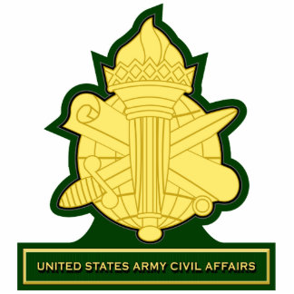 Civil Affairs crest 3 Standing Photo Sculpture