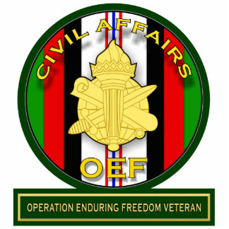 Civil Affairs - Operation Enduring Freedom Veteran Standing Photo Sculpture