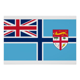 Civil Air Ensign Of Fiji, ethnic flag Print