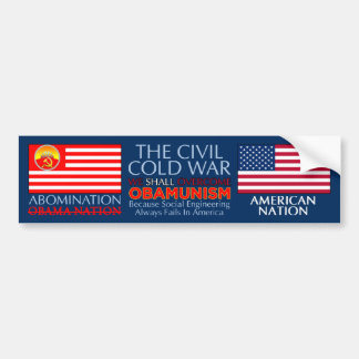 Civil Cold War - Overcome Obamunism Bumper Sticker