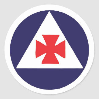 Civil Defense Auxiliary Fireman Logo Sticker