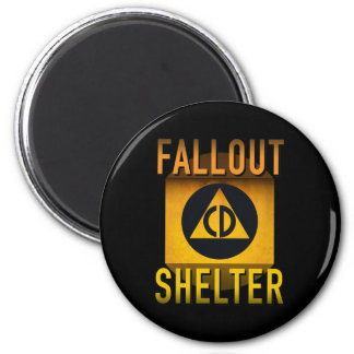 Civil Defense Fallout Shelter Atomic Age Grunge : 6 Cm Round Magnet