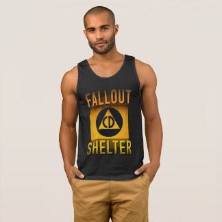 Civil Defense Fallout Shelter Atomic Age Grunge : Singlet