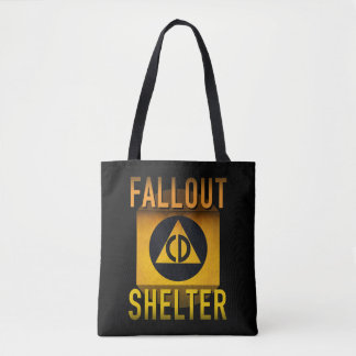 Civil Defense Fallout Shelter Atomic Age Grunge : Tote Bag