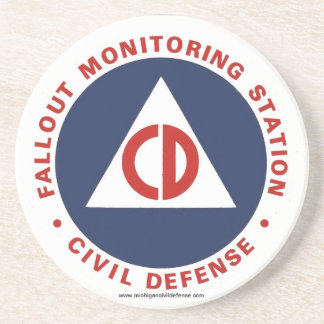 Civil Defense Fallout Station Coaster