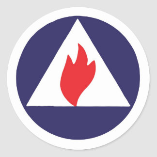 Civil Defense Fire Watcher Logo Sticker
