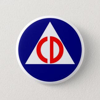 Civil Defense Logo Button