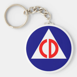 Civil Defense Logo Keychain