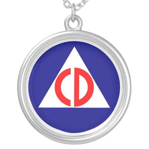 Civil Defense Logo Necklace