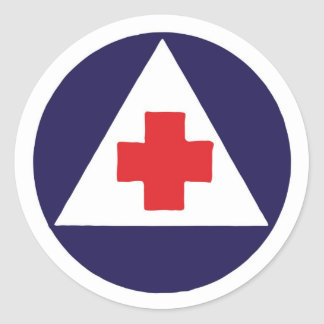Civil Defense Nurse Logo Sticker