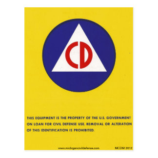 Civil Defense Postcard