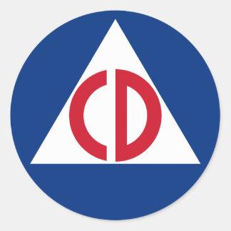civil defense Sticker
